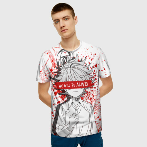 Мужская 3D футболка с принтом Обещанный Неверленд, фото на моделе #1