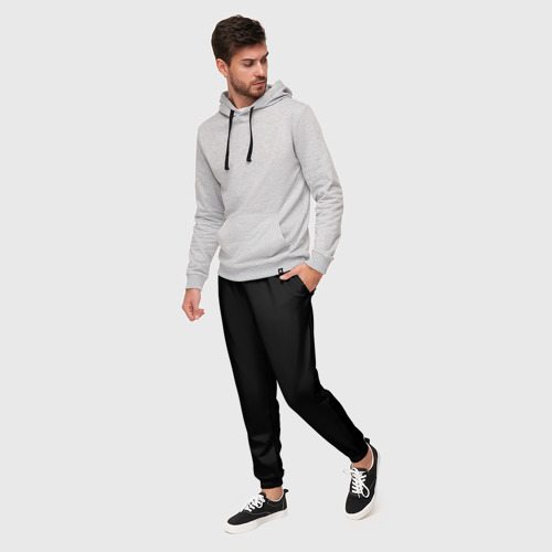 Мужские брюки 3D с принтом ЧЁРНАЯ МАСКА   ТЕМНЫЕ ВЕЩИ, фото на моделе #1