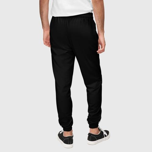 Мужские брюки 3D с принтом ЧЁРНАЯ МАСКА   ТЕМНЫЕ ВЕЩИ, вид сзади #2