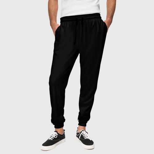 Мужские брюки 3D с принтом ЧЁРНАЯ МАСКА   ТЕМНЫЕ ВЕЩИ, вид сбоку #3