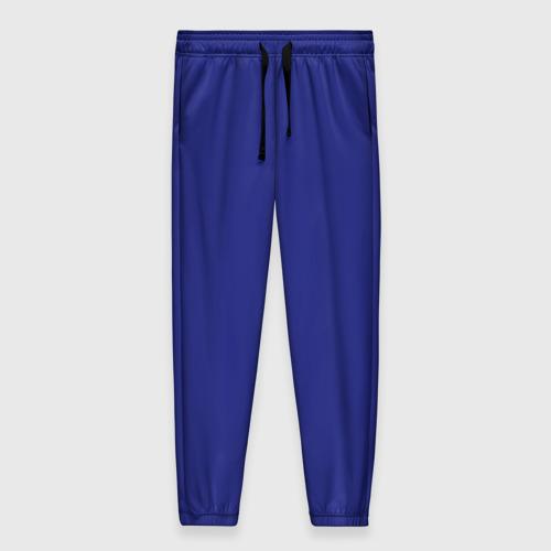 Женские брюки 3D с принтом Синий, вид спереди #2