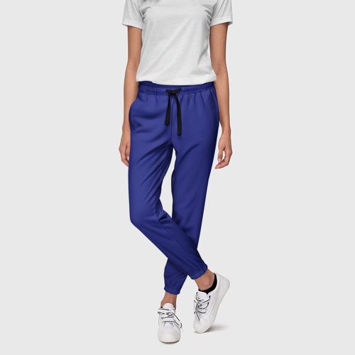 Женские брюки 3D с принтом Синий, фото на моделе #1