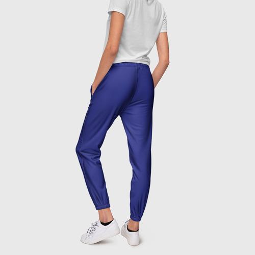 Женские брюки 3D с принтом Синий, вид сзади #2