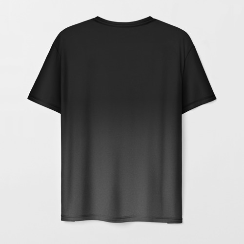 Мужская 3D футболка с принтом Cyberpunk 2077 | Джонни, вид сзади #1