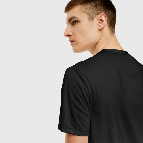 Мужская 3D футболка с принтом Cyberpunk 2077 | Джонни, вид сзади #2
