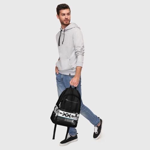 Рюкзак 3D с принтом Printstream   Поток информации, фото #5