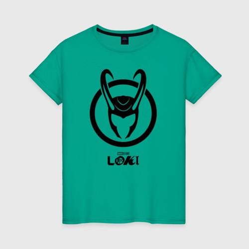Женская футболка Локи шлем