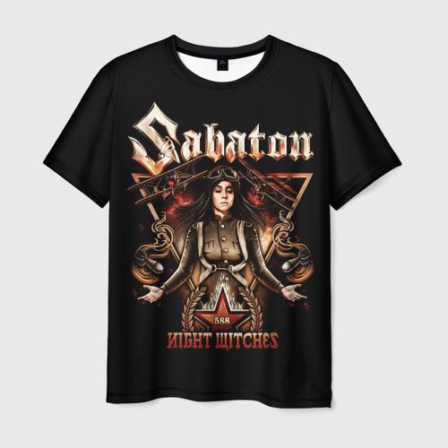 Мужская 3D футболка с принтом Sabaton, вид спереди #2