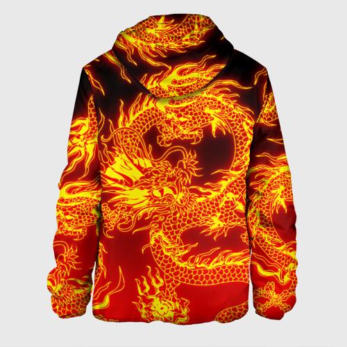 Мужская куртка 3D с принтом ДРАКОН, вид сзади #1