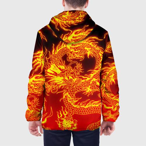 Мужская куртка 3D с принтом ДРАКОН, вид сзади #2