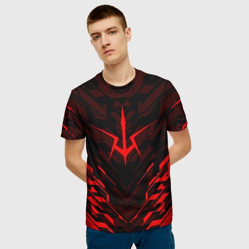 Мужская 3D футболка с принтом КОД ГИАС   CODE GEASS, фото на моделе #1