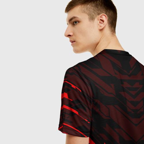 Мужская 3D футболка с принтом КОД ГИАС   CODE GEASS, вид сзади #2