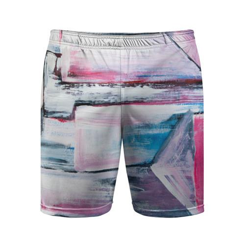 Мужские шорты 3D спортивные Цветные мелки