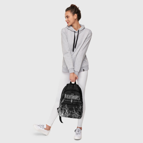 Рюкзак 3D с принтом LITTLE NIGHTMARES ЛЕС, фото #6