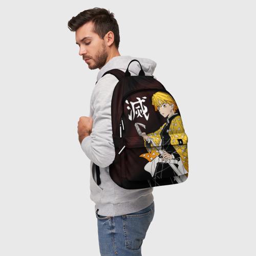 Рюкзак 3D с принтом КЛИНОК РАССЕКАЮЩИЙ ДЕМОНОВ, фото на моделе #1