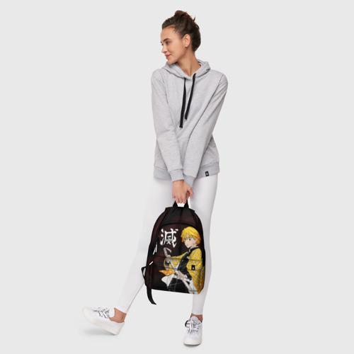 Рюкзак 3D с принтом КЛИНОК РАССЕКАЮЩИЙ ДЕМОНОВ, фото #6