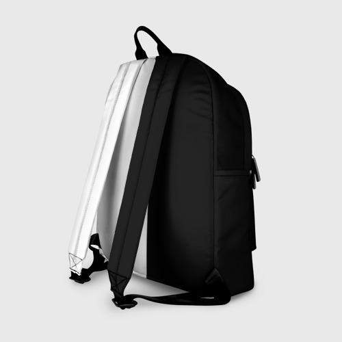 Рюкзак 3D с принтом Токийский гуль черно белый Кен, вид сзади #1