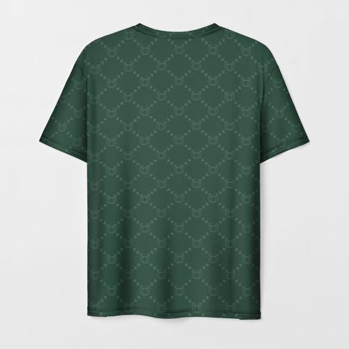 Мужская 3D футболка с принтом GACHI бренд, вид сзади #1
