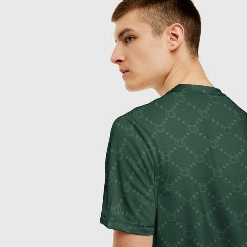 Мужская 3D футболка с принтом GACHI бренд, вид сзади #2
