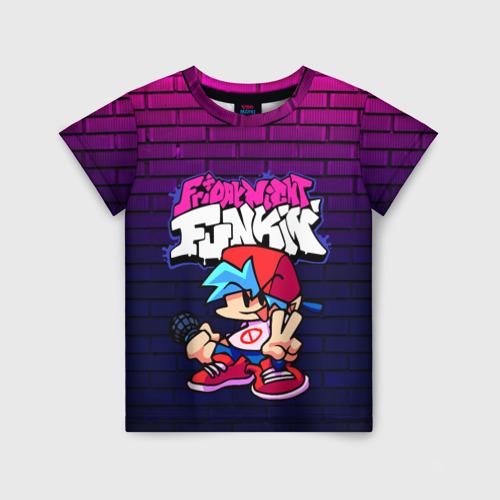 Детская 3D футболка с принтом FRIDAY NIGHT FUNKIN, вид спереди #2