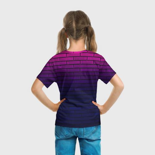 Детская 3D футболка с принтом FRIDAY NIGHT FUNKIN, вид сзади #2