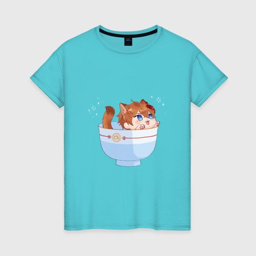 Женская футболка Котик Тарталья