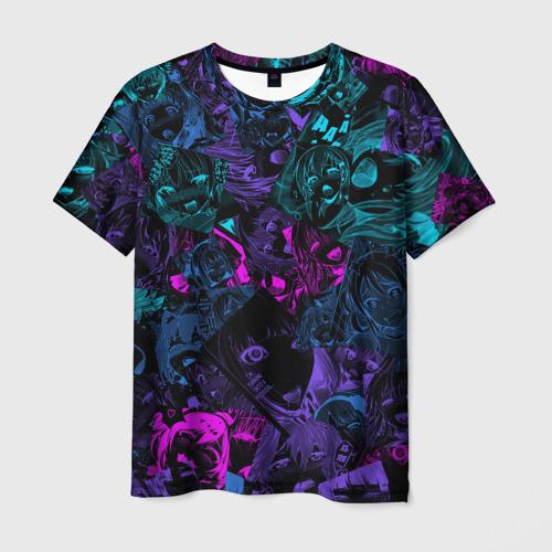 Мужская 3D футболка Neon Ahegao