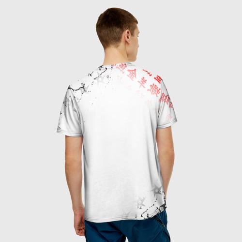 Мужская 3D футболка с принтом ИТАЧИ | АКАЦУКИ | НАРУТО, вид сзади #2