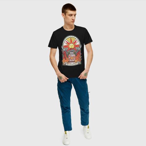 Мужская футболка с принтом Восхваляя солнце | Dark souls, вид сбоку #3