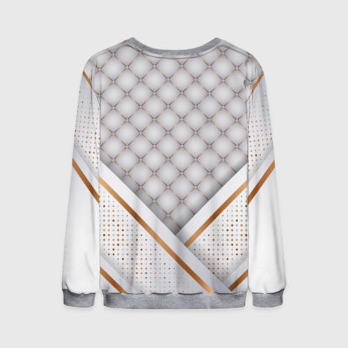 Мужской 3D свитшот с принтом Luxury white & Gold, вид сзади #1