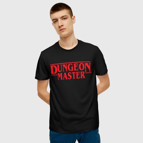 Мужская 3D футболка с принтом Stranger Dungeon Master, фото на моделе #1