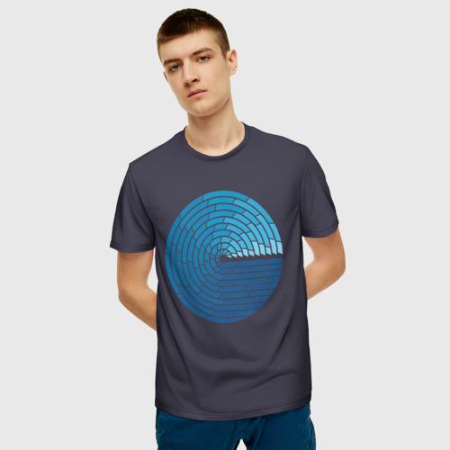 Мужская 3D футболка с принтом Ocean Mosaik, фото на моделе #1
