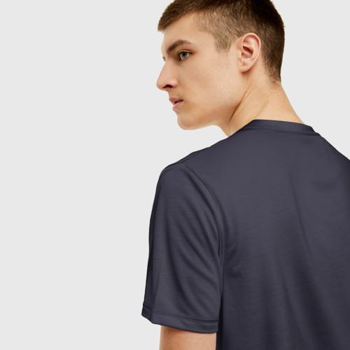 Мужская 3D футболка с принтом Ocean Mosaik, вид сзади #2