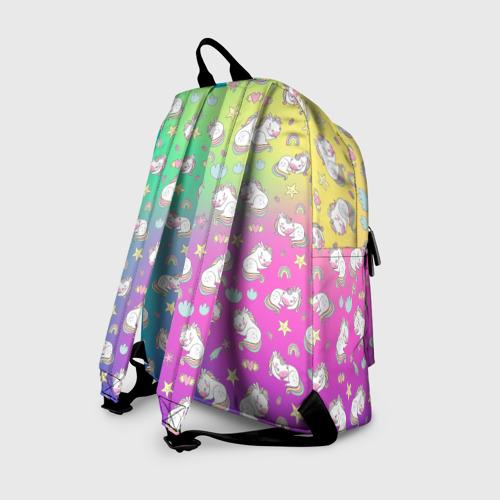 Рюкзак 3D с принтом Спящий милашка пони, вид сзади #1