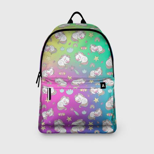 Рюкзак 3D с принтом Спящий милашка пони, вид сбоку #3