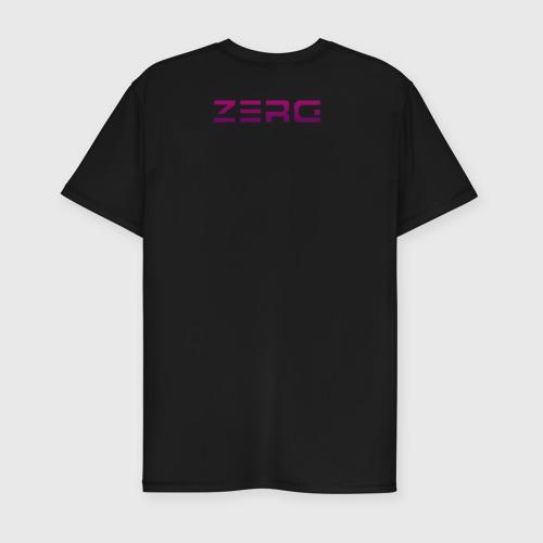 Мужская футболка премиум с принтом Zerg logo mini   Purple, вид сзади #1