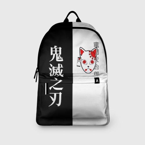 Рюкзак 3D с принтом МАСКА ТАНДЖИРО / TANJIRO MASK, вид сбоку #3
