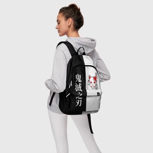 Рюкзак 3D с принтом МАСКА ТАНДЖИРО / TANJIRO MASK, фото #4