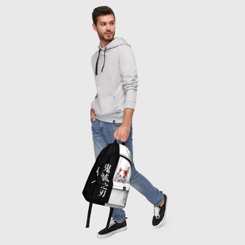 Рюкзак 3D с принтом МАСКА ТАНДЖИРО / TANJIRO MASK, фото #5
