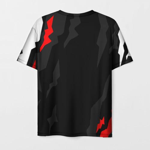 Мужская 3D футболка с принтом NISSAN GT-R / GODZILLA, вид сзади #1