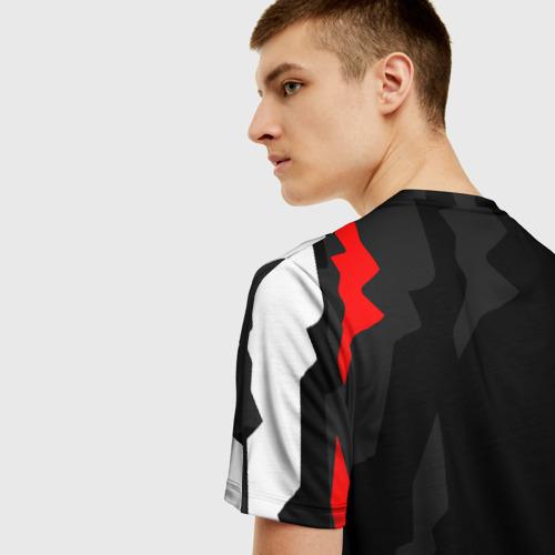 Мужская 3D футболка с принтом NISSAN GT-R / GODZILLA, вид сзади #2