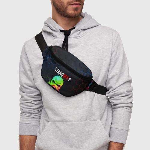 Поясная сумка 3D с принтом STANDOFF 2 / Z9 MASK COLOR, фото на моделе #1
