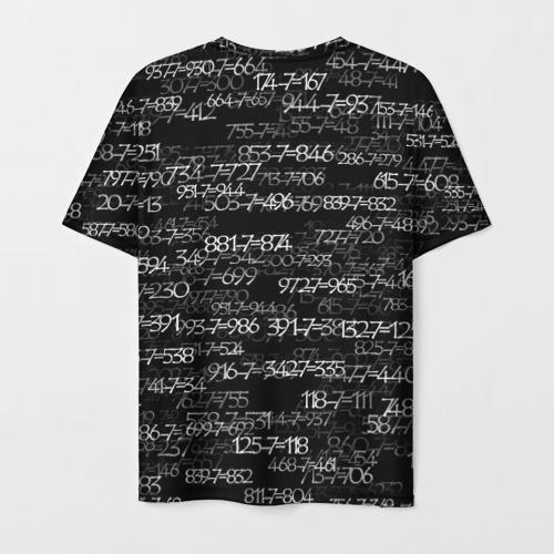 Мужская 3D футболка с принтом Kaneki Ken 1000-7, вид сзади #1