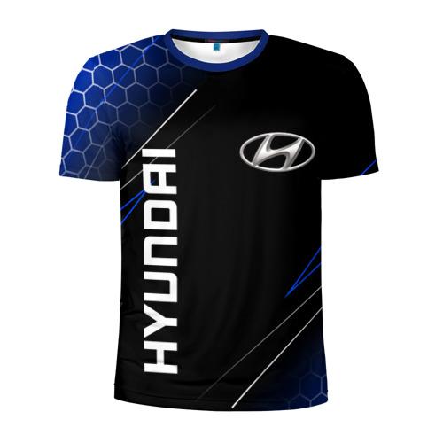 Мужская футболка 3D спортивная HYUNDAI / ХЕНДАЙ / ЛИНИИ