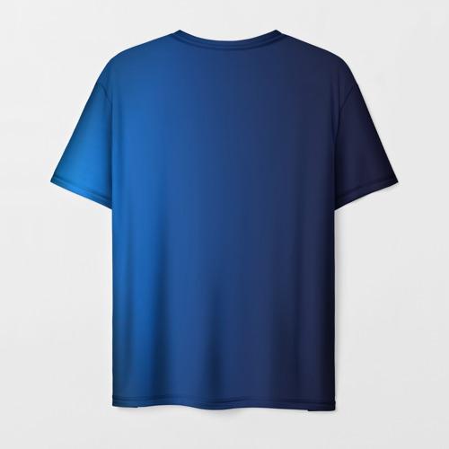 Мужская 3D футболка с принтом Сборная Италии, вид сзади #1