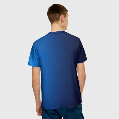 Мужская 3D футболка с принтом Сборная Италии, вид сзади #2