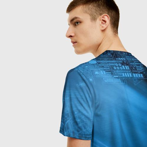 Мужская 3D футболка с принтом Чертеж, вид сзади #2