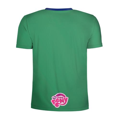 Мужская футболка 3D спортивная с принтом Милая Флаттершайн, вид сзади #1