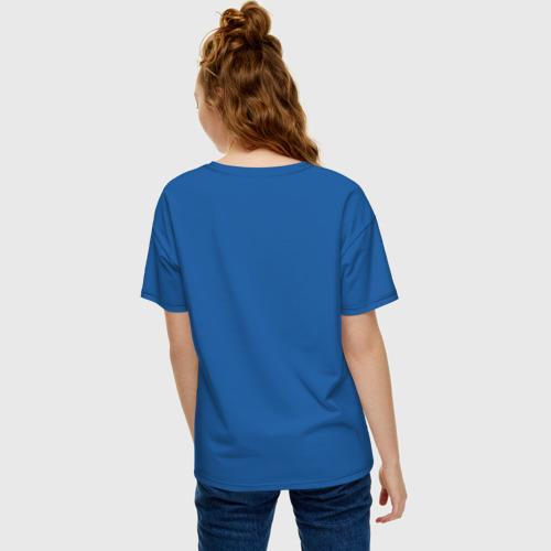 Женская футболка oversize с принтом Поющий свитер Мэйбл, вид сзади #2