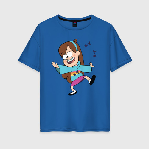 Женская футболка oversize с принтом Поющий свитер Мэйбл, вид спереди #2